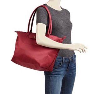 Longchamp Le Pliage Bag - worn